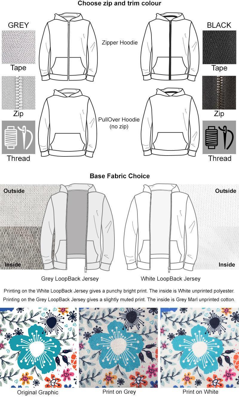 Personalised Hoodie  Cut And Sew Custom Hoodie Printed