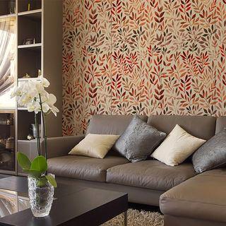 Custom print wallpaper pattern living area sofa