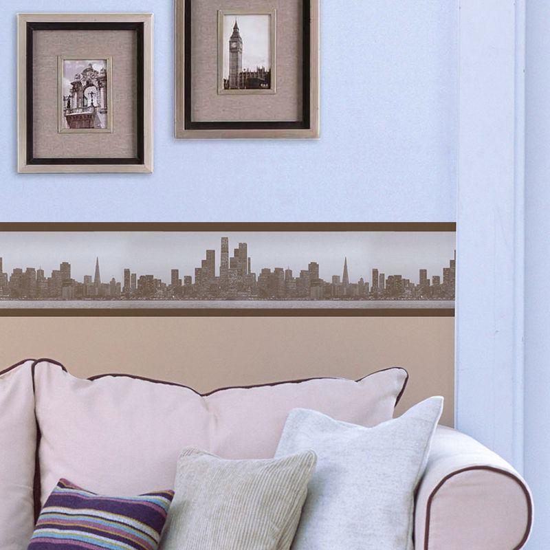 Nursery Wallpaper Borders For Baby Uk Lounge Design City Skyline Border Paper