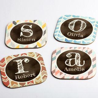 Individual name photo coasters