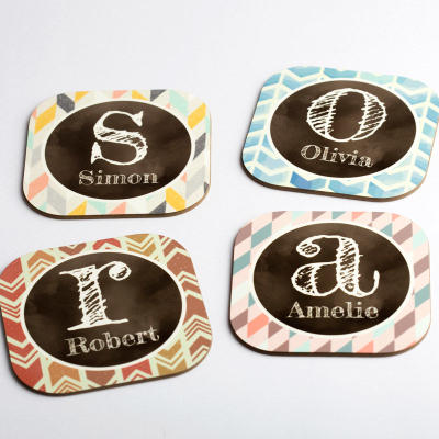 personalized name coasters