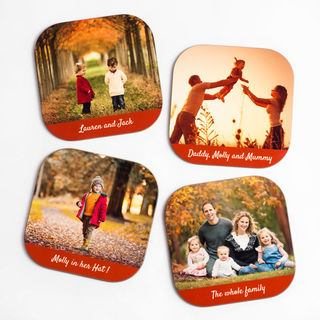 Print your own photo coaster text and images