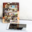 photo collage leather iPad cover