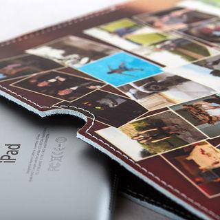 leather iPad case details