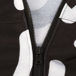 customise your own hoodie with a black zip