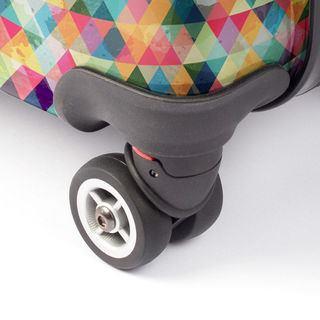custom suitcase wheel details