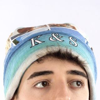 personalise with name printed beanie
