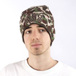 Camouflage printed beanie