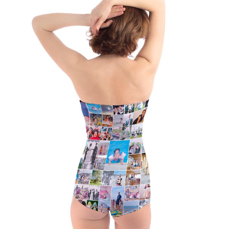 Trägerloser Badeanzug personalisieren | Badeanzug selbst gestalten
