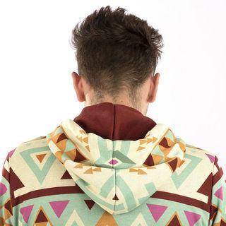 Hood lining detail personalised hoodie