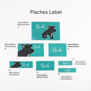 fabric label widths