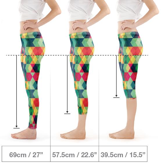 taglie leggings personalizzati