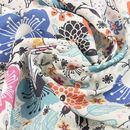 custom print French Crepe Light fabric swirl small print