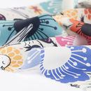 French Crepe lightweight Fabric Printing surface folds