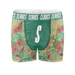 boxer personnalisé motif fleuri lettre S