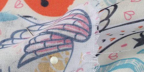 Surface du tissu mousseline mulmul