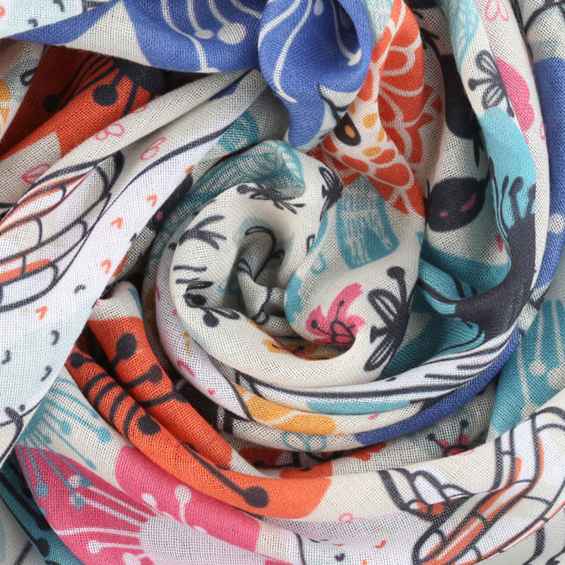 personalised printing on muslin fabric