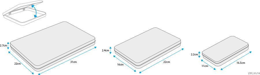 tailles boite en métal personnalisée