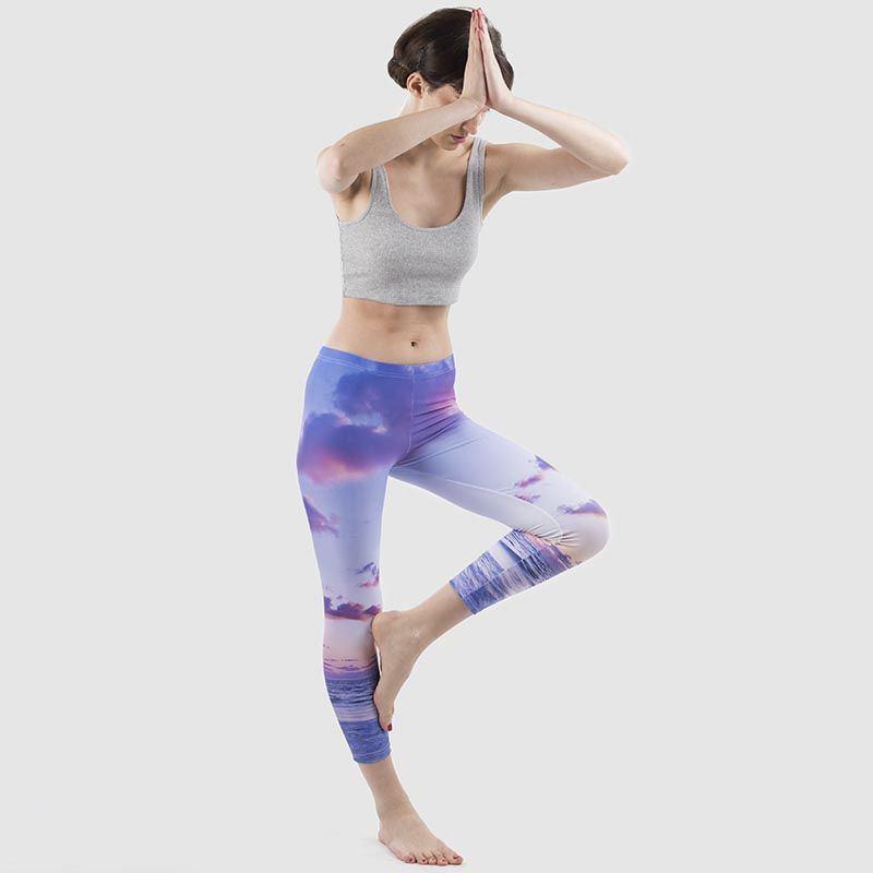 cut and sew leggings pose