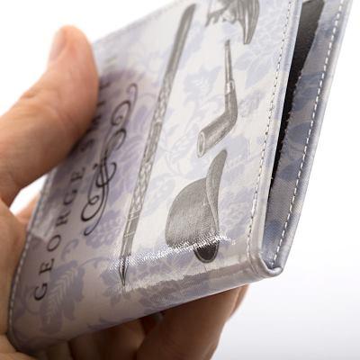 billetera de piel