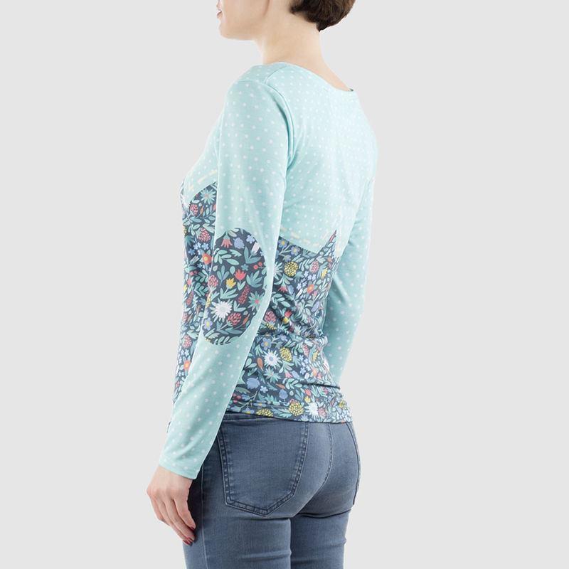 Womens Custom Made Long Sleeve T Shirt Cut And Sew