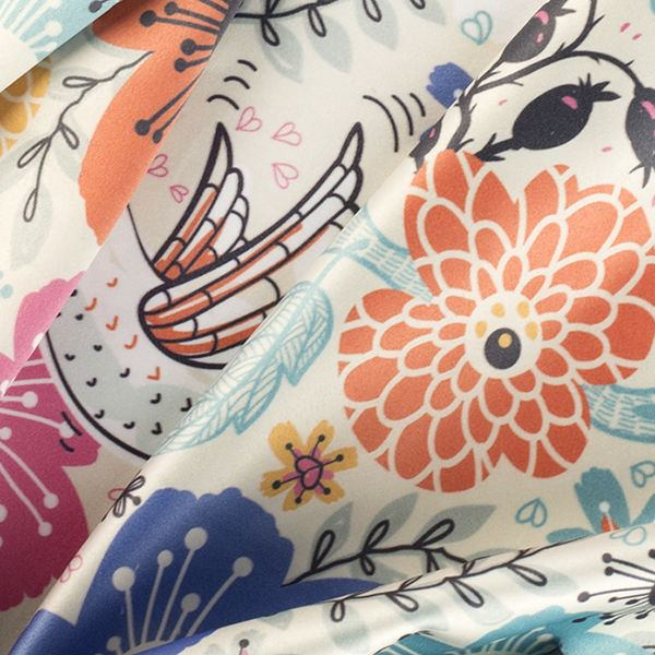 silk sensation fabric option for personalised kimonos