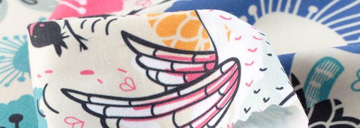 Custom t-shirt fabric printing