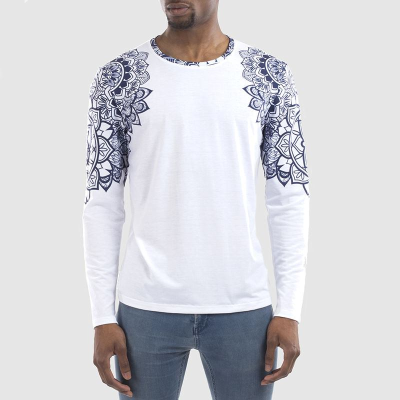 Men S Custom Long Sleeve T Shirt Cut Sew Long Sleeve T