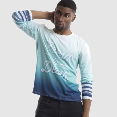 メンズプリント長袖Tシャツ
