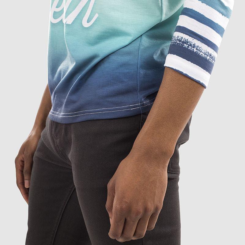 Men S Custom Long Sleeve T Shirt Cut Sew Long Sleeve T