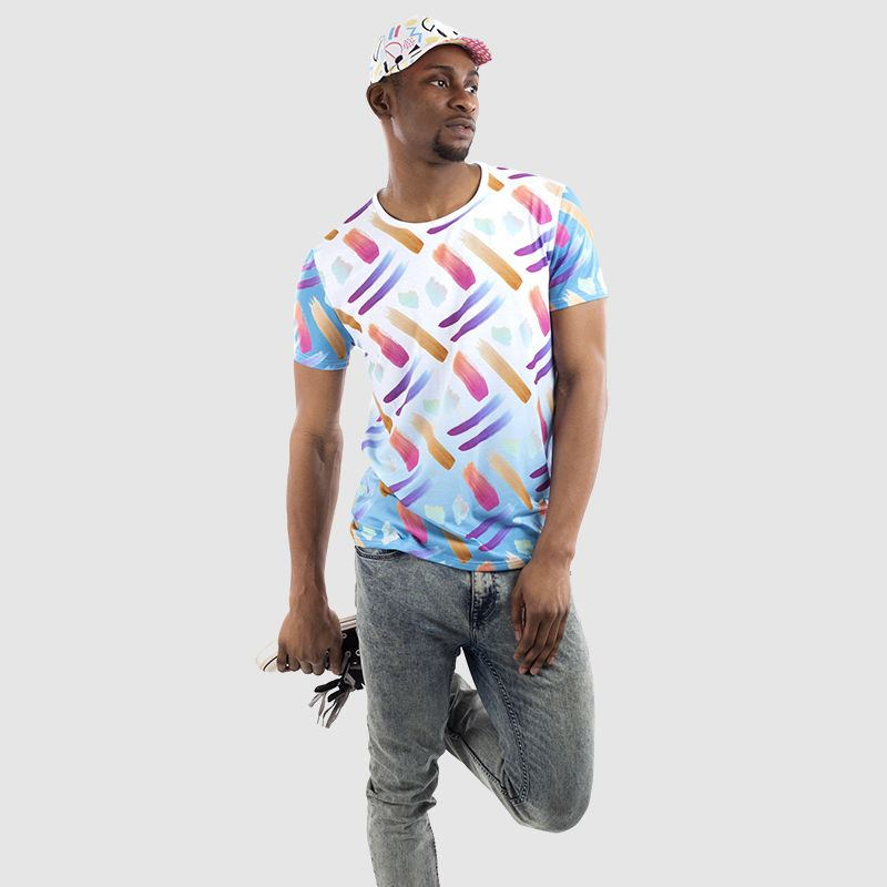 Men's Cut and sew t shirt holding image