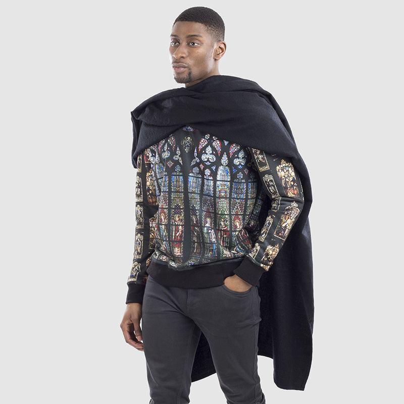 Sweatshirt style it with Holding image