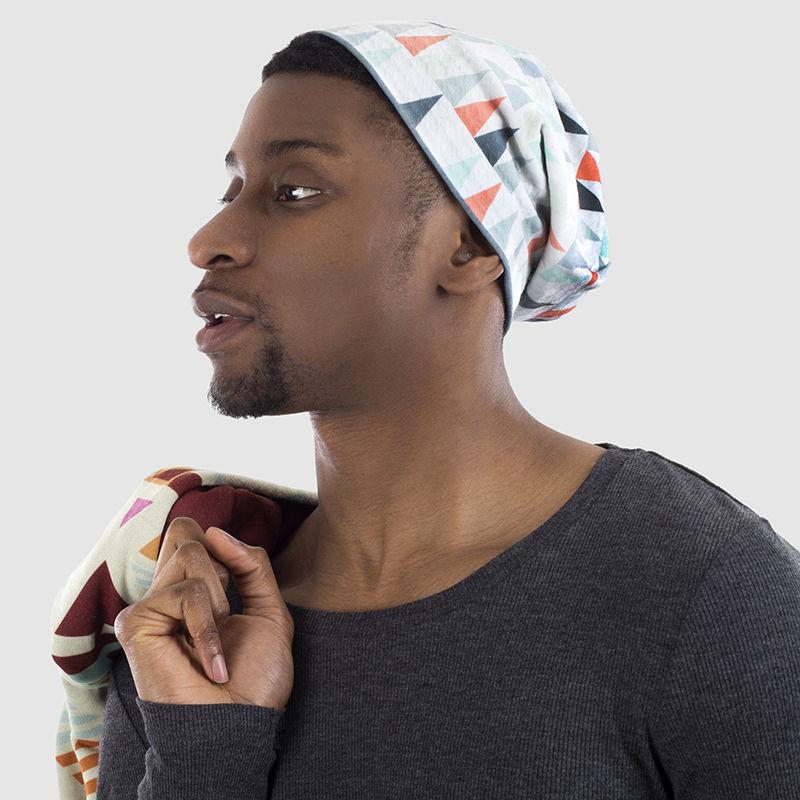 ニット帽にデザイン印刷