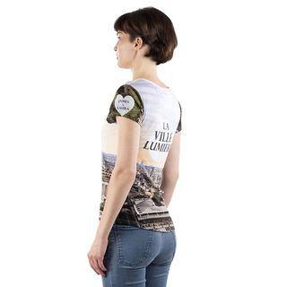 Impression sur tee shirt pour femme cintré