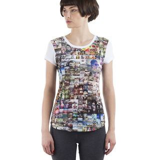 Impression sur t shirt cintré femme