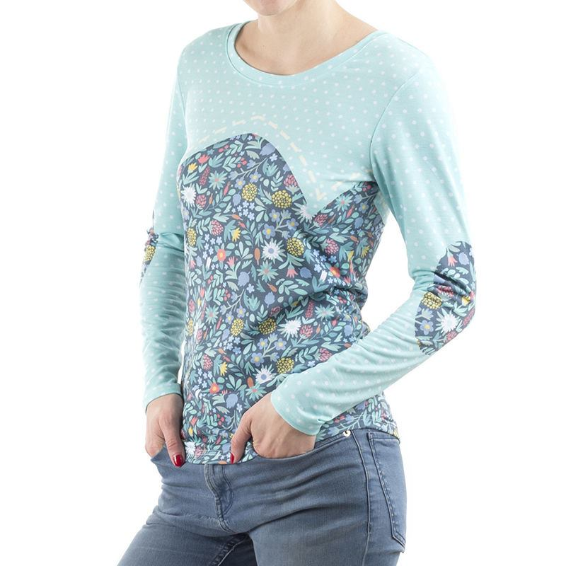 Ladies custom long sleeve t shirt cut and sewn to order for Custom t shirts for women