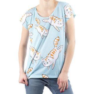 cat design ladies t shirt