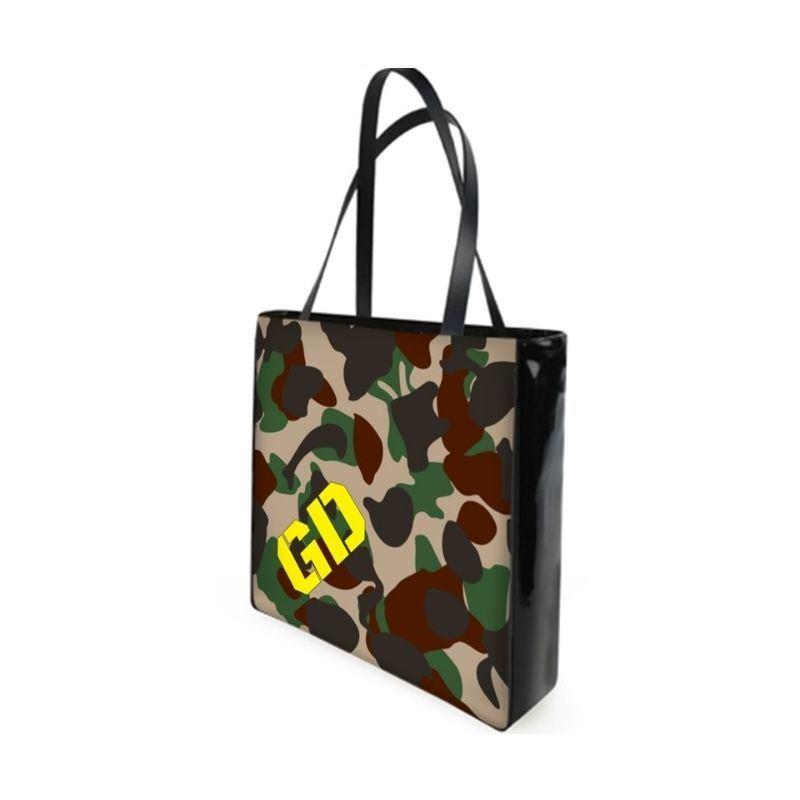 borse personalizzate con iniziali mimetico militare