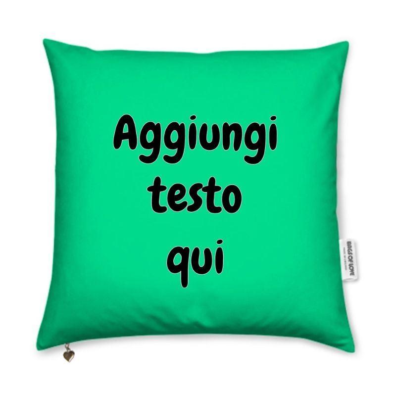 cuscini personalizzati con scritte