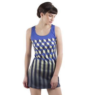 Scuba klänning med eget tryck