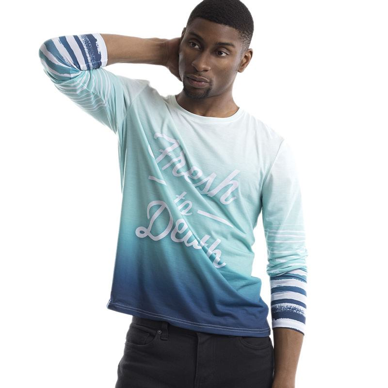Design your own t shirt cut and sew long sleeve t shirt for Personalized long sleeve t shirts