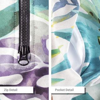 custom onesie details zip and pocket