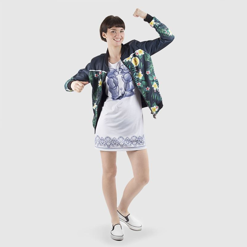 Ladies T-Shirt Dress Style it with Image
