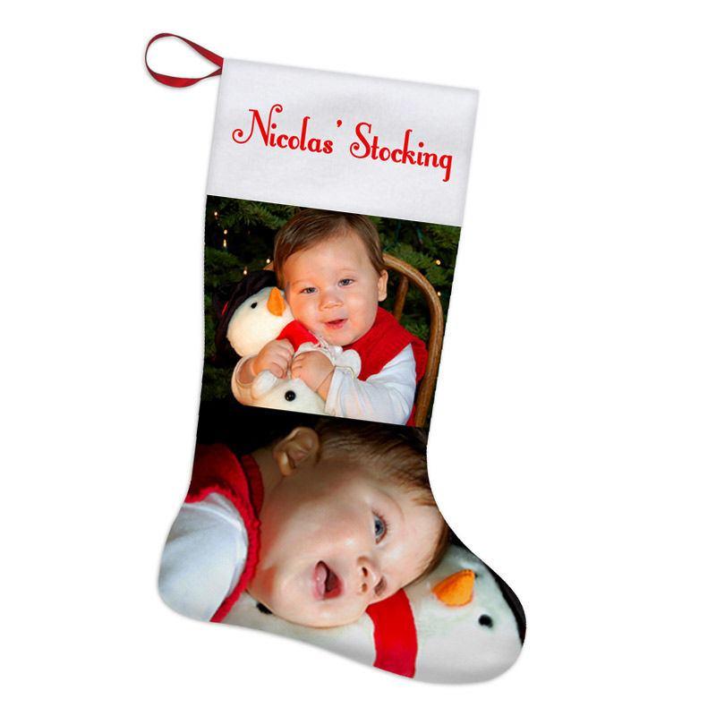 Calcet n de navidad personalizado imprime tu nombre y foto - Calcetines de navidad personalizados ...