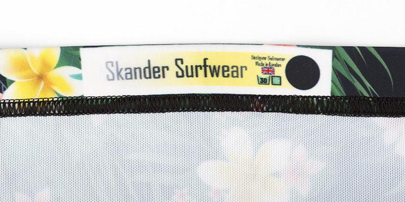 Strapless Swimsuit Label