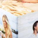 nahaufnahme fotowürfel überzogen mit filz