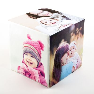 cubo de fotos para navidad