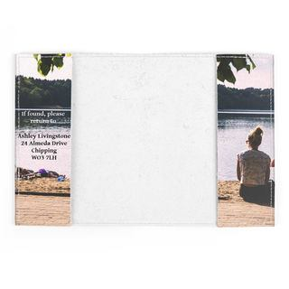 porta passaporto in pelle personalizzato con foto