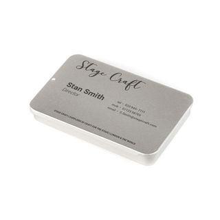 Scatola porta biglietti da visita in metallo