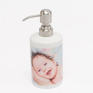 soap dispenser with baby photo